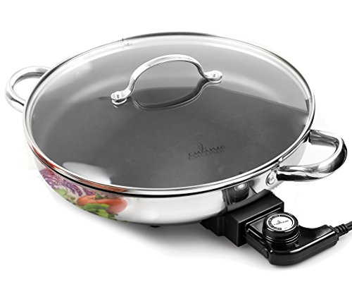 Electric Skillet By Culina 18/10 Stainless Steel, Nonstick...