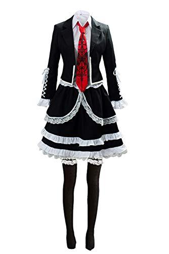 COSTHAT Danganronpa V3 Celestia Ludenberg Cosplay Costume Dress Halloween School Uniform Outfit for Women (M, Black)