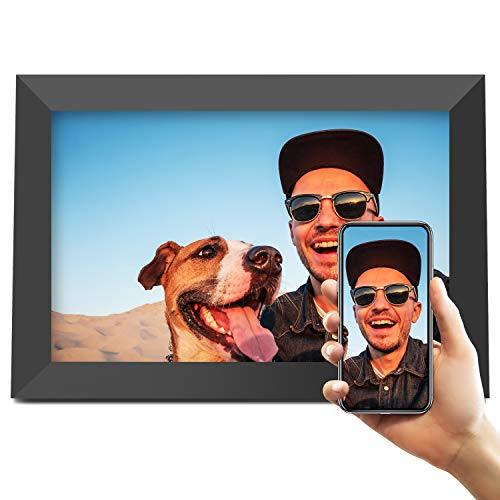 Jeemak Digital Picture Frame 10.1 inch WiFi Photo Frame with FHD IPS Touch Screen Portrait or Landscape Stand Auto-Rotate Share Photos and Videos via App at Anytime and Anywhere