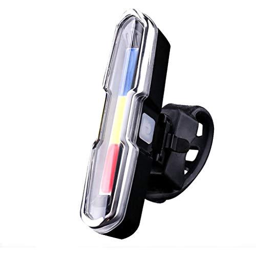 Hellery Fuente de Luz Trasera de Bicicleta USB LED Brillante Bicicleta Ciclismo Seguridad Linterna de Carretera