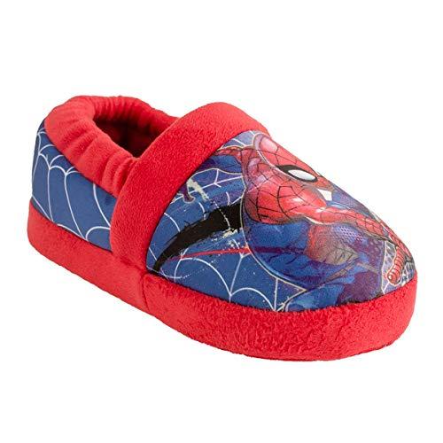 Favorite Characters Boy's Spiderman Low Slipper SPF260 (Toddler/Little Kid) Blue SM (5-6 Toddler) M