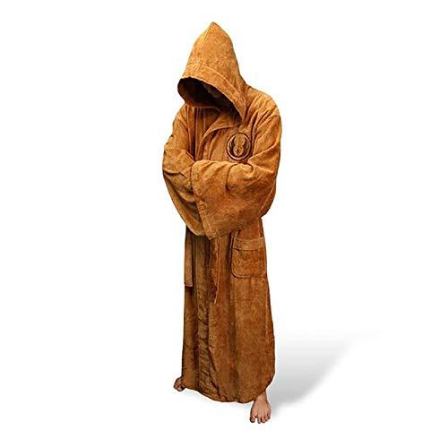 GVCTⓇ Halten Sie warm Flanell Robe Männchen mit Kapuze Dick Star Wars Bademantel Jedi Empire Herren Bademantel Winter Long Robe Herren Bademantel Pyjama