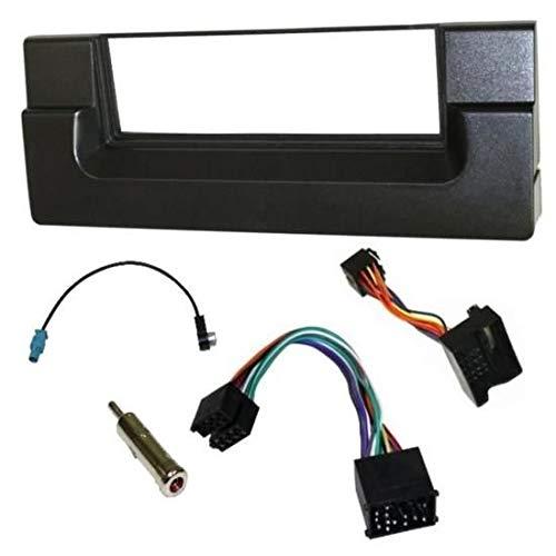Sound-way 1 DIN Radiopaneel Frame Autoradio, Antenne Adapter, ISO Aansluitkabel, ondersteuning voor BMW X5, Serie 5