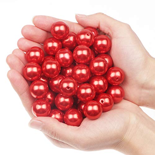 45PCS 20mm Perlas para manualidades perlas para coser plástico perlas decorativas para jarrones perlas para rellenos de jarrones/bricolaje de joyería/bodas/Decoración del hogar