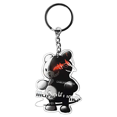 Danganronpa Keychain Cute Acrylic Anime Keychain Monokuma Plush Fanghua Gifts for Adults & Kids