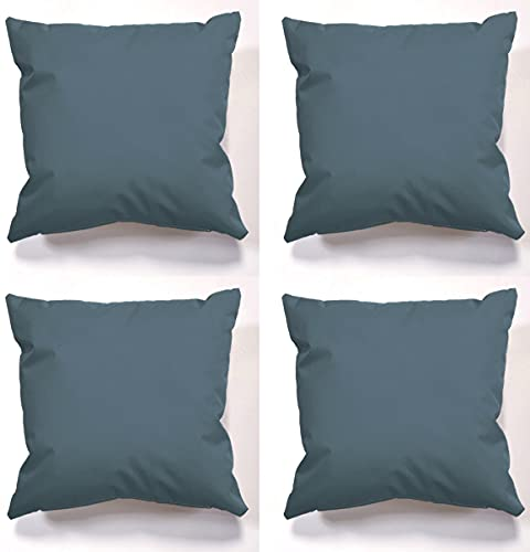 Beautiful Beanbags Set of 4 Garden Cushions Outdoor Cushions Water Resistant Cushion set Complete with cushion inserts Scatter cushions for indoors or outdoors use ready Filled (Grey)
