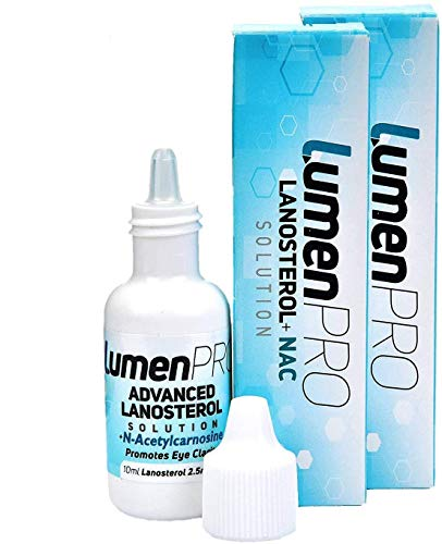 LumenPro Twin Pack (2x10ml, 4-8 Week Supply) Pet Eye Drops | Promotes Vision Clarity in Animals with Cataracts | Scientifically Formulated Lanosterol and N-Acetylcarnosine (NAC) Combination