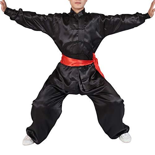 Yudesun Artes Marciales Ropa Unisex Adulto Niño Conjuntos - Tradición China Tai Chi Wushu Ropa Niños Niñas Rendimiento Traje Kung Fu Uniforme Negro 120cm