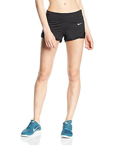 Nike Damen Beinkleid Court Shorts Women, Black/White, XL