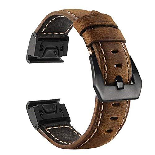 Dreamworldeu Leder Ersatzarmband für Garmin Fenix 5S, Fenix 5S Plus Armband,Nicht für Fenix 5 5X