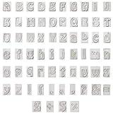Cortador de Galletas Letras (64 piezas) - Plástico de Sin BPA Moldes Galletas A a Z (2cm), 26 las...