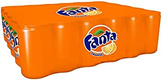 Fanta Orange Carbonated Soft Drink Cans - 150ml (Pack of 30)