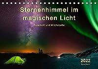 Sternenhimmel im magischen Licht - Polarlicht und Milchstrasse (Tischkalender 2022 DIN A5 quer): Der Himmel in leuchtenden Farben. (Monatskalender, 14 Seiten )
