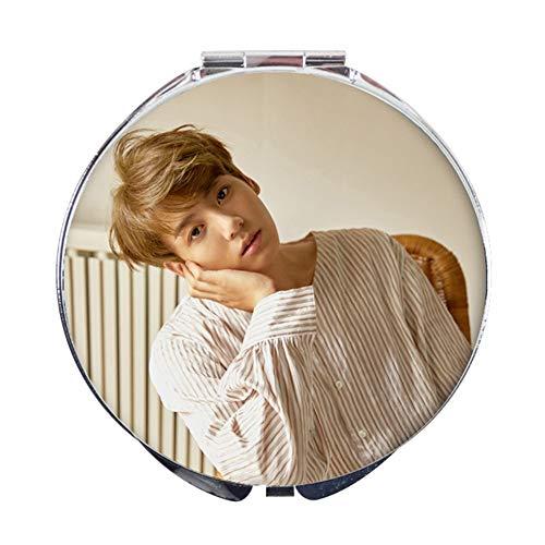 AMA-StarUK36BTS Simple Pliant Miroir Décoration de Petits Cercles Miroir en Verre réfléchissant Miroir