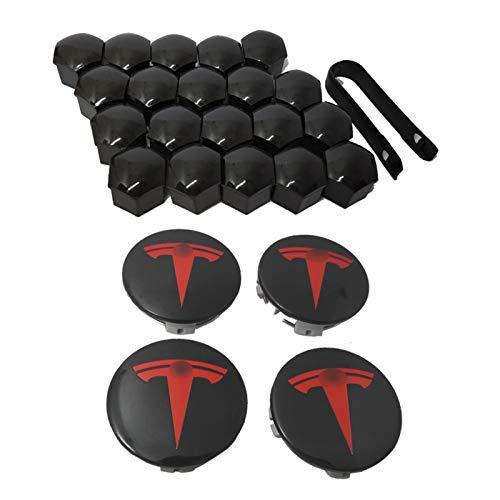 Nabenabdeckung Für Tesla Model 3, S & X Aero-Radkappen-Kit (4 Nabenmittelkappen + 20 Radmutternabdeckung)