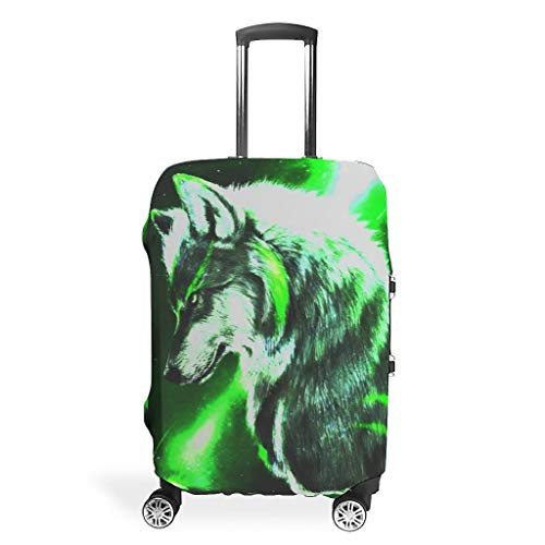 Travel Wolf - Fundas para maletas de viaje con espejo, diseño de animales, White (Blanco) - Viiry-XLXT-24