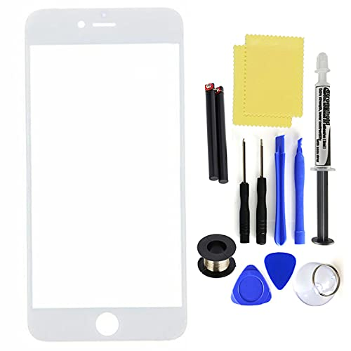Auleset Kit de pegamento LOCA para iPhone 6 6S 7 8 Plus - Blanco para iPhone 8