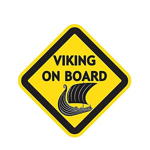 DSRLO Autocollant de Voiture 12 CM X 12 CM Viking À Bord Autocollants De Voiture Car Styling Vinyle Decal Personnalité Accessoires Étanches