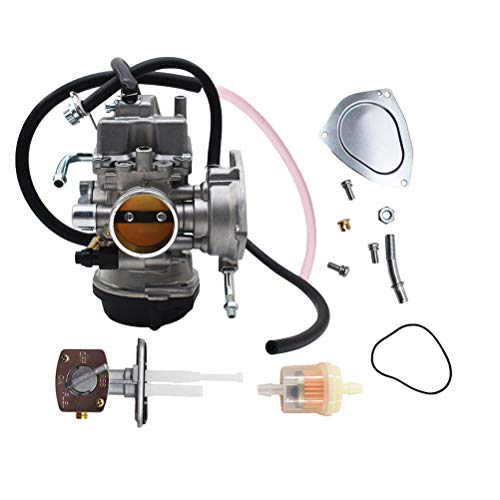 Carburetor Carb for Suzuki LTZ400 LTZ 400 Quad ATV with Fuel Valve Petcock 2003-2007