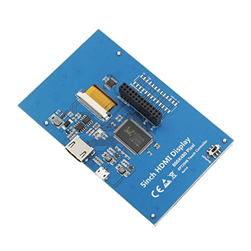 5-inch Resistive Touch Screen LCD Display HDMI for Raspberry Pi XPT2046,Blue