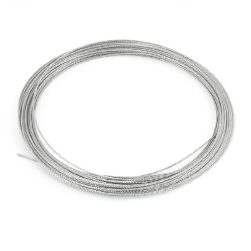 Sourcingmap A13092700UX1046 - Cable (acero inoxidable) color gris