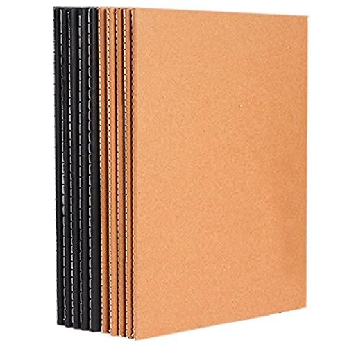 B5 Kraft Paper Papel Cuaderno A5 A4,10 Paquete Conjunto De Notebooks, Kraft Brown Soft Cover Thick Y Simple College Students Bloc De Notas, 80 Hojas, Notas PortáTiles De Diario-A4