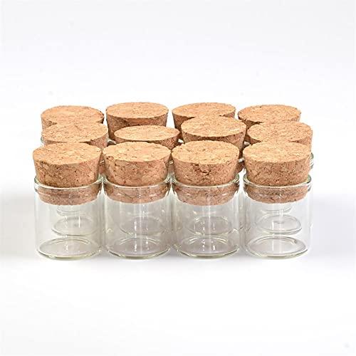 BAWAQAF Bottiglie di vetro,Bottiglia di vetro 2225mm con tappo morbido,Bottiglia di decorazione natalizia 24pcs,Regalo di festa di benedizione di nozze