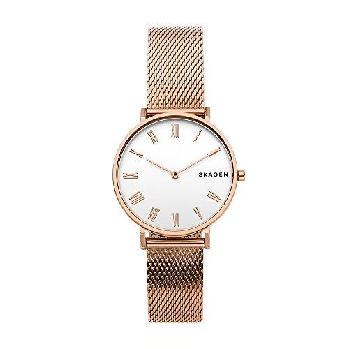 Skagen Damen Analog Quarz Uhr mit Edelstahl Armband SKW2714