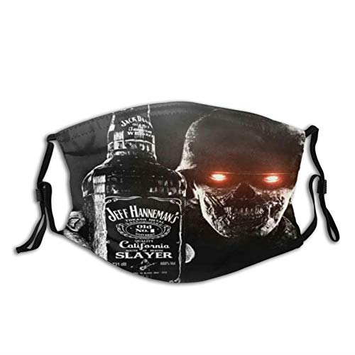 SINOVAL Face Cover J-a-c-k D-a-n-i-e-l-s Warrior Zombie Art Print Balaclava Unisex Reusable Windproof Anti-Dust Mouth Bandanas Outdoor Neck Gaiter with 2 Filters