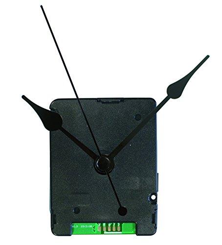 TFA Dostmann Funk Uhrwerk, 60.3525.01, lautlose Wanduhr, zum basteln, analog,mit 2 Uhrzeigersets, Kunststoff, schwarz, (L) 55 x (B) 40 x (H) 71 mm