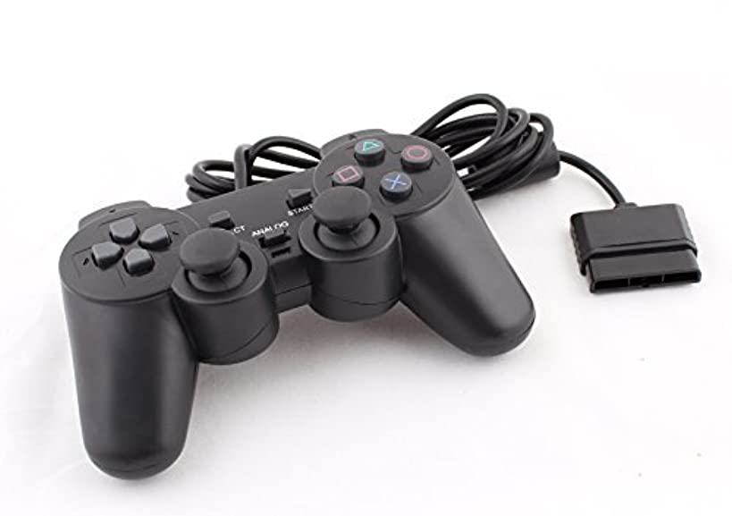 Funcilit PlayStation 2 Wired Controller, Gamepad, Black