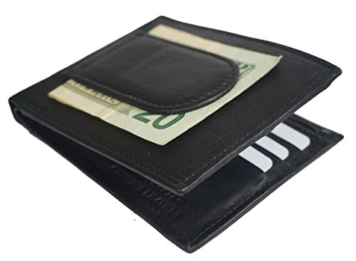 Premium Leather Credit Card Holder Bifold Front Pocket Money Clip Mens wallet