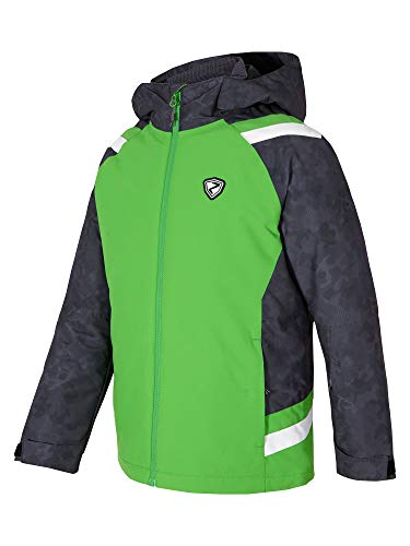 Ziener Jungen Aver jun (jacket ski) Kinder Skijacke, Winterjacke/wasserdicht, winddicht, warm, Green, 152