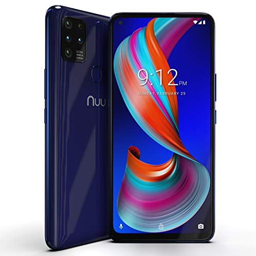 "NUU Mobile G5 4G LTE Unlocked Android Smartphone | 64GB + 4GB RAM | 5000 mAh Battery | 6.55"" HD+ Screen 