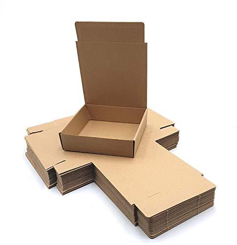 Pack 25 cajas | cartón pequeñas, para envíos ecommerce automontables kraft, paqueteria, almacenaje , packaging, regalos, envio postal, Ideal ecomerce. (15 x 14.5 x 4cm, Pack 25 cajas)