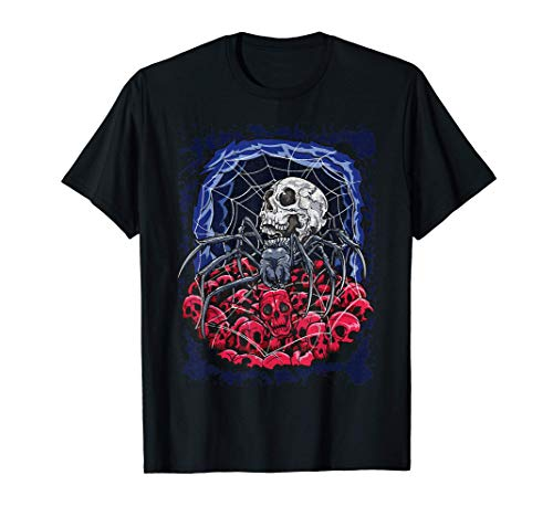 Tela de araña Calaveras góticas Tela de araña Camiseta