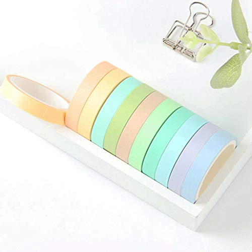 Washi Tape, 12 Rolls Rainbow Tape Deco Tape Stickers Cintas adhesivas de dulces de colores Set de cinta adhesiva de papel para regalos Embalaje Scrapbooking DIY Craft
