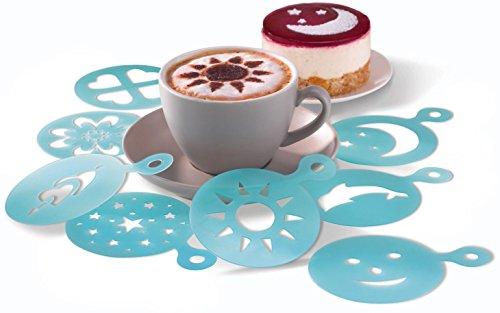 ERNESTO® Cappuccino-Schablonen, wiederverwendbar, 8 Stück