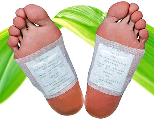 30 Stück Bambus-Pflaster Fuß-Pflaster, Fusspads für die Nacht, Qualitativ hochwertig mit Turmalin und Vitamin-C, 100% natürlich, Fuß-Pads