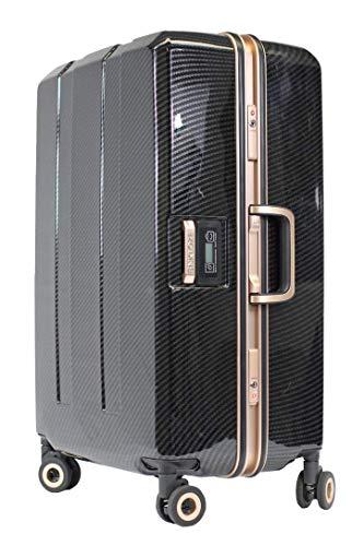 Enkloze X1 Weight Watcher Suitcase Zipperless Self Weighing Carbon Black / Rose Gold TSA Approved 100% PC Carbon (25')
