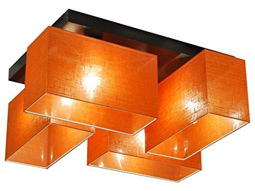 Deckenlampe - HausLeuchten JLS41ORD - 4 Varianten, Deckenleuchte, Leuchte, Lampe, 4-flammig, Massivholz (ORANGE)