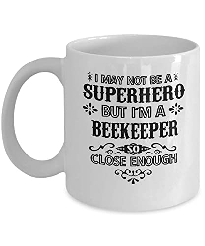 Taza de café de apicultor, regalo divertido para apicultor I May Not Be A Superhero But I'm A Apicultor, abejas, bicho, abejas de miel, taza de café de abejas de abejas
