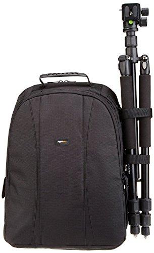 AmazonBasics DSLR Camera and Laptop Backpack Bag - 13 x 9 x 18 Inches, Black And Orange