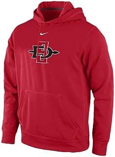 Nike San Diego State Aztecs Therma-Fit Performance KO Practice Hoodie Sweatshirt (Small)
