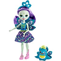 Enchantimals-FXM74 Patter Peacock y Flap, muñeca con mascota, multicolor, 74 (Mattel FXM74)