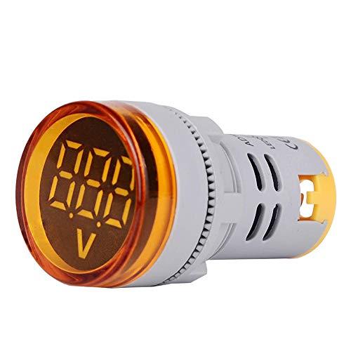 JJBHD Electronic Accessoires & Supplies 10pcs Yellow ST16VD 22mm Lochgröße 6-100 VDC Digital Voltmeter Rundspannungsprüfer Tester Mini-LED-Spannungsanzeige-Signal-Licht-Monitor Um Ihnen die Qualität d