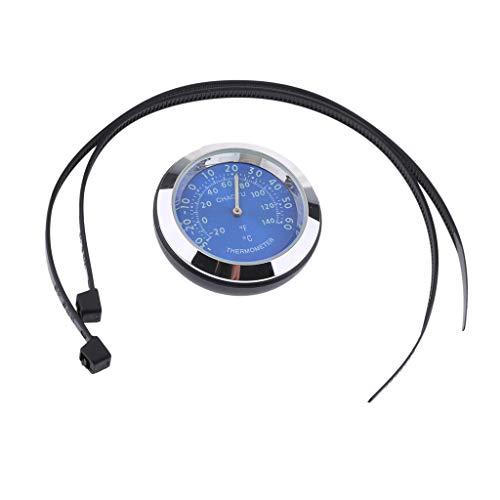 Motorraduhr Motorrad Lenker Thermometer wasserdicht - Blau
