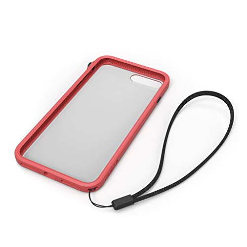 for iPhone 8 Plus Case Shock Proof Impact Protection by Catalyst, with Wrist Strap Lanyard Rugged Case Compatible with iPhone 7 Plus, Wireless Charging, Drop Protective, Mute Switch - Coral