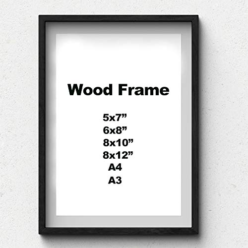 HllhPC (Senza fotolijst) Solida houten frame eenvoudig A4 A3 hout wit zwart fotolijst kleuren met accessoires voor wandmontage incl.