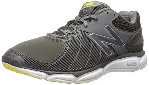 New Balance Men's 813 V3 Cross Trainer, Grey/Yellow, 9 2E US